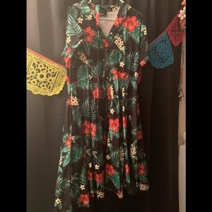 Collectif  tropical swing dress 3x